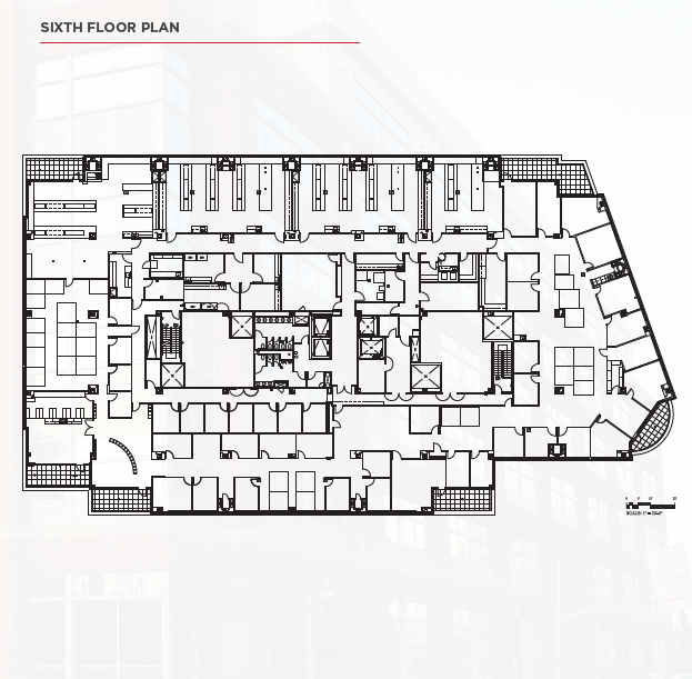 801 West Baltimore Street Sixth Floor Plan