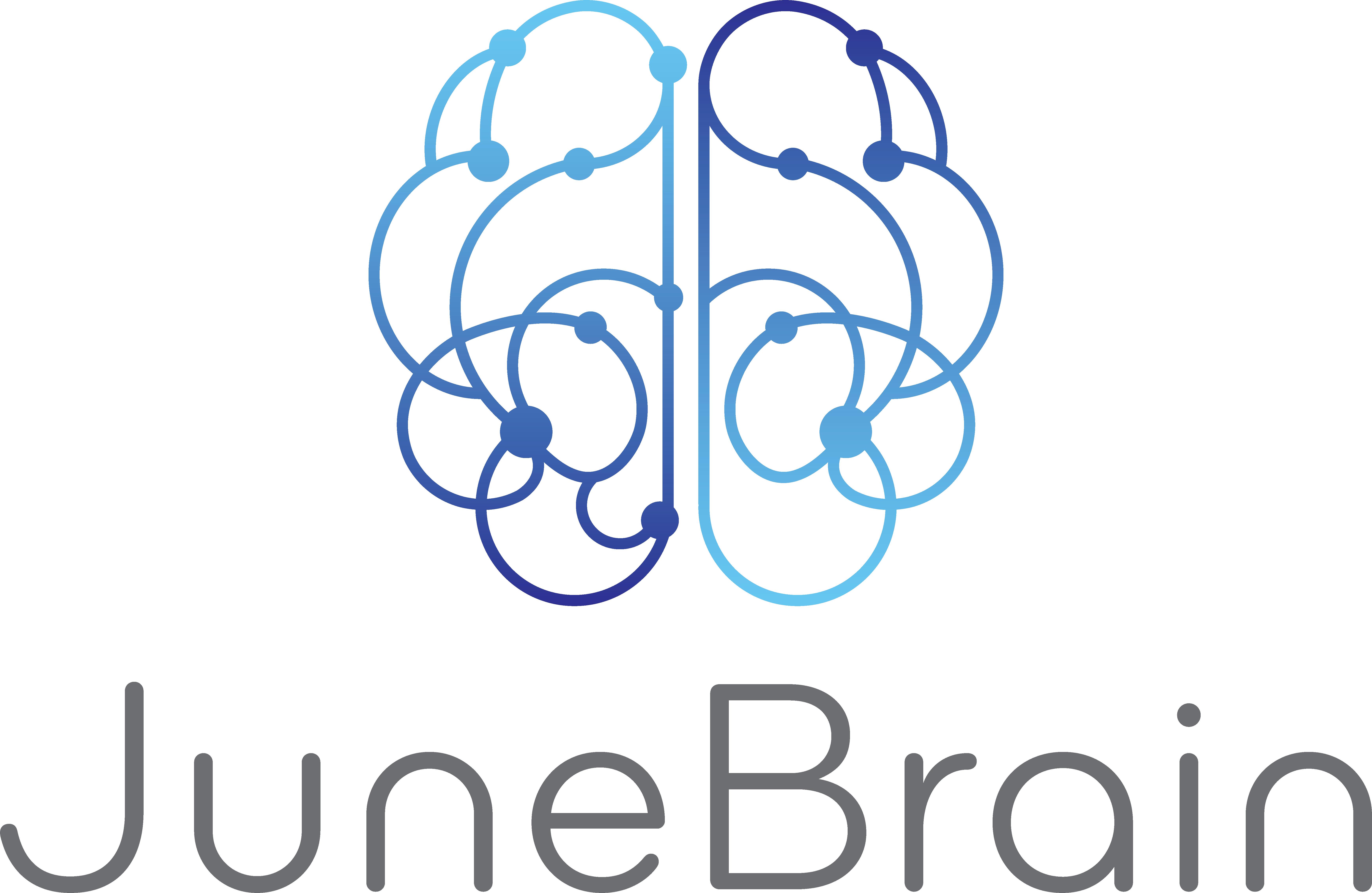 JuneBrain logo - brain line drawing
