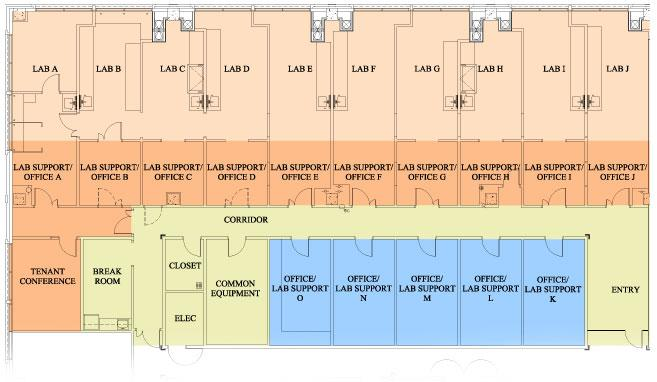 The BioInnovation Center floor plans