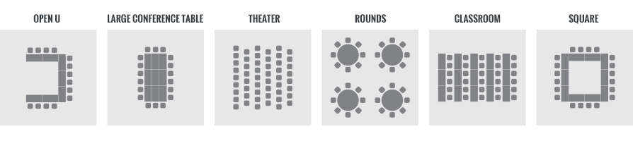 conference center seating options