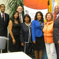 Employees from The Harbor Bank of Maryland with UM employees